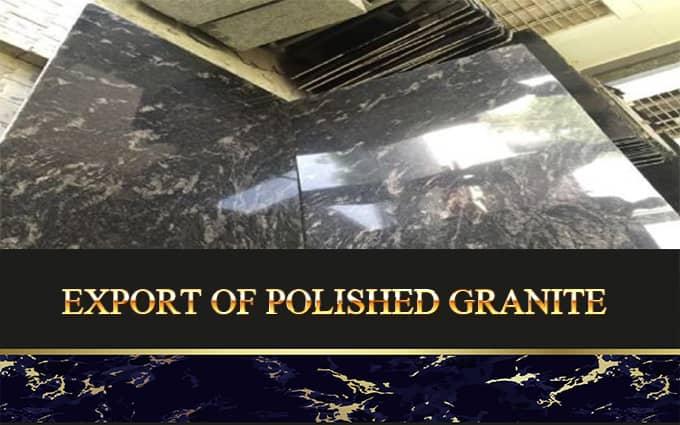 Export Of Polished Granite