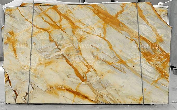yellow stone marble and granite