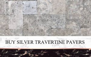 Buy Silver Travertine Pavers