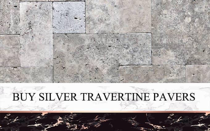Buy Silver Travertine Pavers