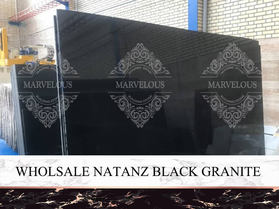 Wholesale Natanz Black Granite