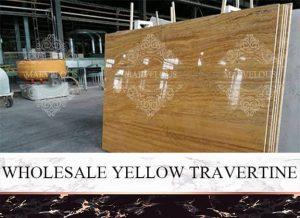 Wholesale Yellow Travertine