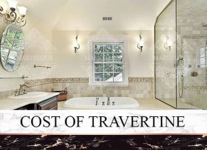 cost of travertine