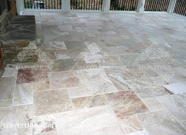 price of travertine tile